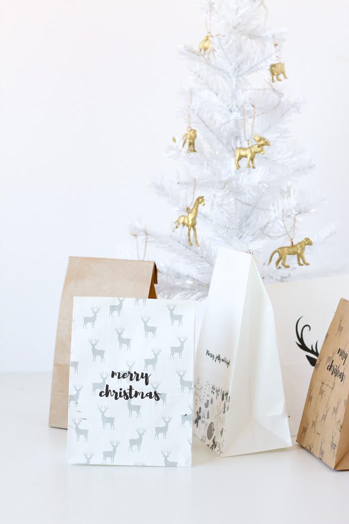 Printed Gift Bags // DIY