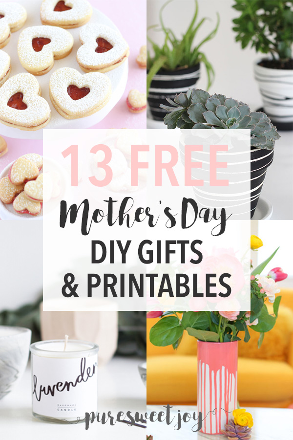 DIY Mother's Day Gift Ideas and Printables // Roundup