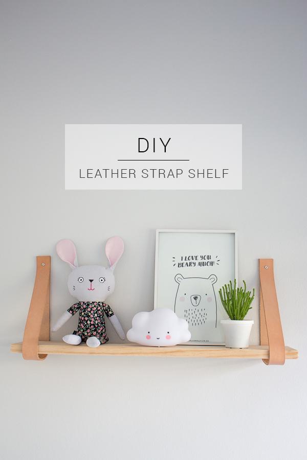 Leather Strap Shelf // DIY