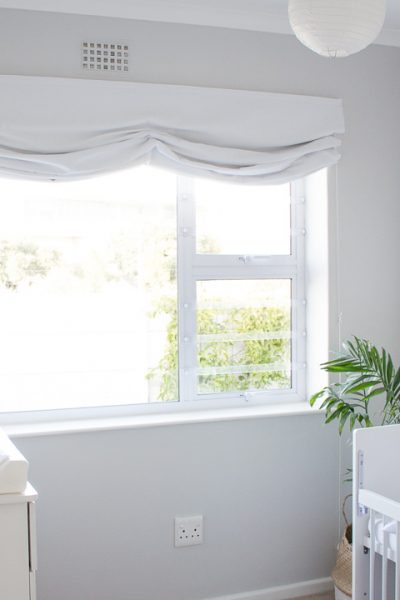 Relaxed roman blind // DIY